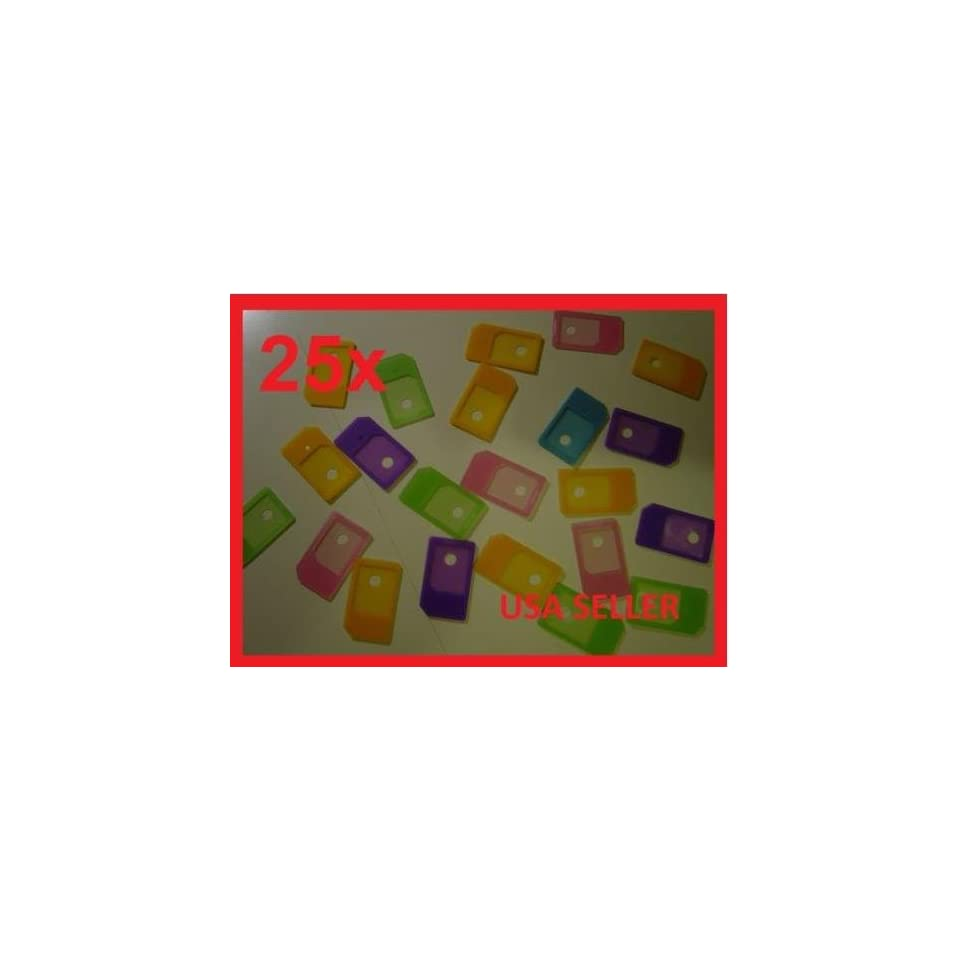 25x Micro SIM Card Adapter to Regular for iPHONE 4G 4S iPad 1 2 Generation