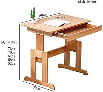 WGG Mesa Silla de escritorio para niños Juego de sillas Altura ...