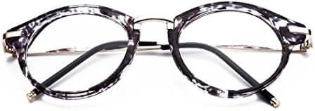 GAMT Round Hipster Glasses Clear Full Frame Eyeglasses for Men and Women