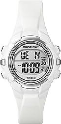 Timex Women's Marathon T5K8069J Indiglo White Digital Sport Watch