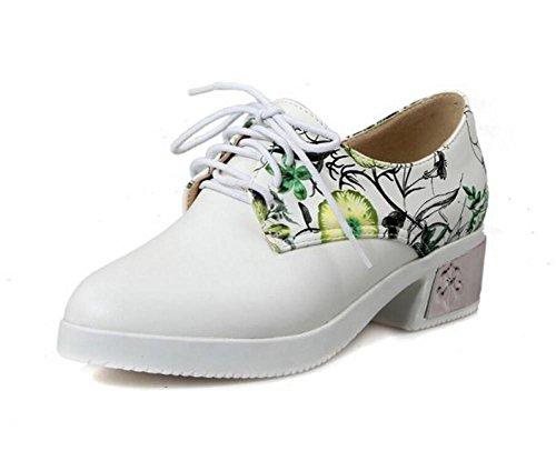 40 Resistente Puntera al Goma Desgaste Gruesa la de Green de Redonda 43 de Correa fiat Zapatos GREEN Mujer del la Suela XIE con ARYwdXdq