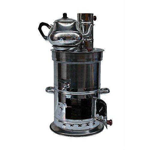 Antique Vintage Russian Turkish Samovar Urn Reproduction + Teapot Samowar Самовар