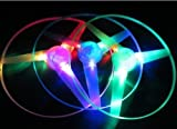 Blue Pink Green LED Light up Flying Disc Toy 3 Pieces