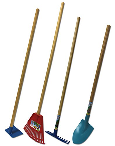 Emsco Group Little Diggers Kids Garden Tool Set – Four-Piece Set – Child Safe Tools – Garden with Your Kids - Set Rake