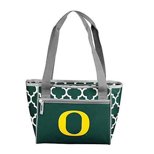 Logo Brands NCAA Oregon Quatrefoil 16 Can Cooler Tote, One Size, Multicolor