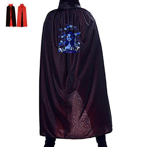 Zombie Bride Emily Unisex Hooded Halloween Cape Costume Wizard Cloak