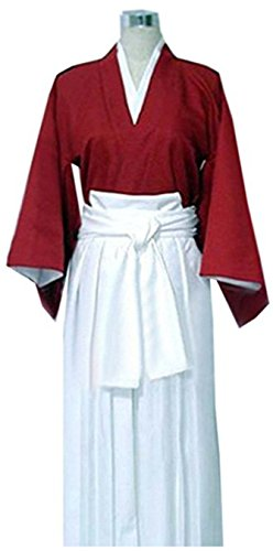 Vicwin-One Anime Himura Kenshin Kimono Uniform Outfit Cosplay Costume (Male (Easy Male Cosplay Costumes)