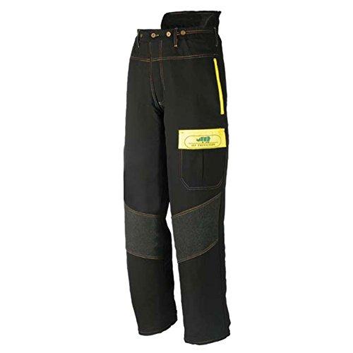 SIP SIOEN1SQAL Comfort Forestry - Pantalón de motosierra (talla L), color negro y amarillo