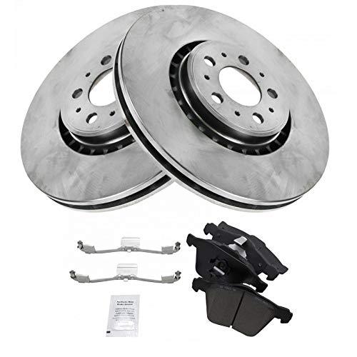 Front Ceramic Brake Pad Set 2 336mm Rotor Pair Kit For 03-09 Volvo XC90