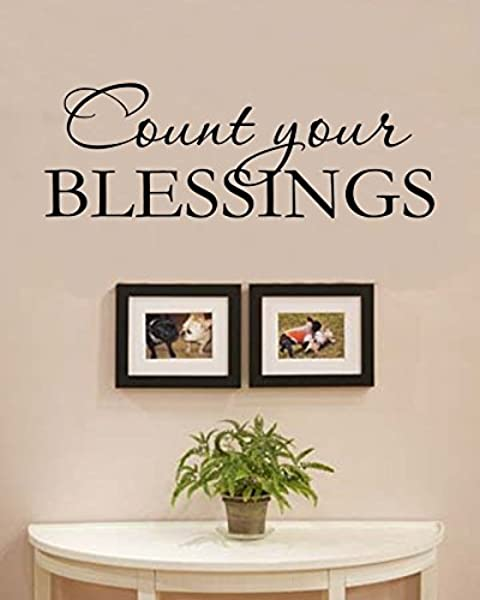 Count Your Blessings Vinyl Wall Decals Quotes Sayings Words Art Decor Lettering Vinyl Wall Art Inspirational Uplifting Baby