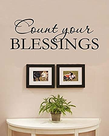 Ordinaire Count Your BLESSINGS Vinyl Wall Decals Quotes Sayings Words Art Decor  Lettering Vinyl Wall Art Inspirational