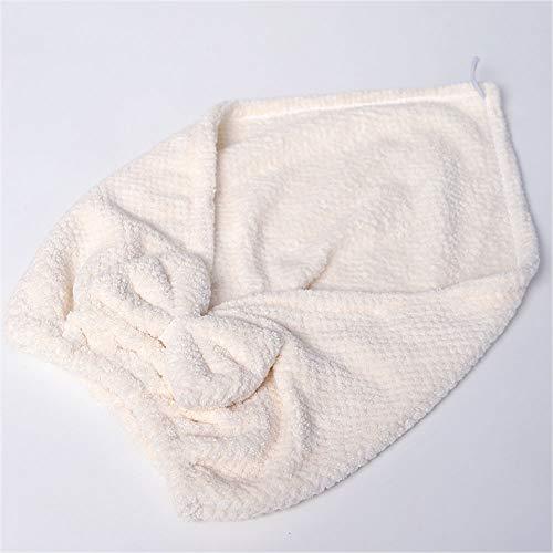 ZSLLO Microfibra Baño Toalla Sombrero Pelo Secado rápido Toalla Sombrero Linda Herramienta de baño Súper Suave Absorbente...