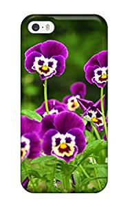 New Green And Purple Flowers Tpu Case Cover, Anti-scratch BdGUl12390qKvPa Phone Case For Iphone 5/5s