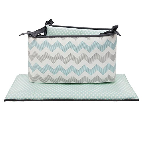 (Uptown Giraffe 4 Piece 100% Cotton Crib Bumper by The Peanut Shell)