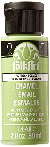 FolkArt Enamel Glass & Ceramic Paint in Assorted Colors (2 oz), 4019, Fresh Foliage ()