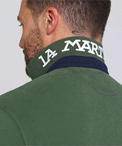 Polo Cotone Scuro Martina Modello Verde Manica Regular La Lunga Felpato fagSqap