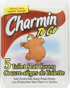 Charmin To Go Toilet Seat Covers Tissue, 5 Seat Covers, Pack of 3