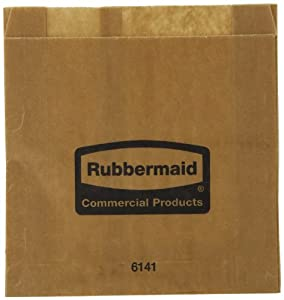 Rubbermaid Commercial Waxed Sanitary Napkin Bags, Pack of 250 (FG6141000000)