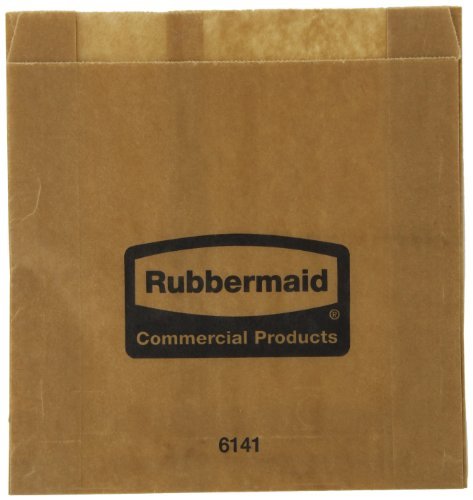 (Rubbermaid Commercial Waxed Sanitary Napkin Bags, Pack of 250 (FG6141000000))