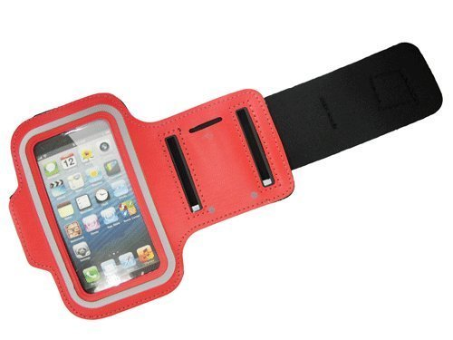 G4GADGET® Mesh Red Running Armband Case Cover for Apple Iphone 4s/4
