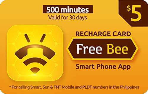 Amazon com: Free Bee $5 Prepaid Call Card, 500 Minutes to