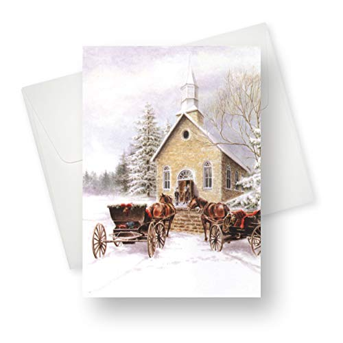 Northern Cards - Christmas Card - Small Town Christmas (Merry Christmas and a Happy New Year) - Large (Happy New Year And Merry Christmas Cards)
