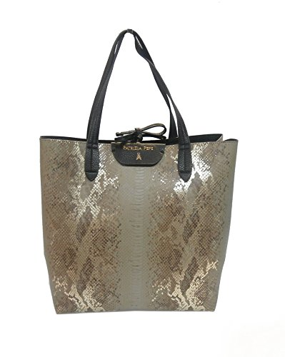 Patrizia Pepe shopping verticale 2V5517 marrone beige/gold python