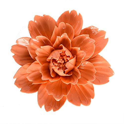 BERTERI Modern 3D Stereo Wall Ceramic Flowers Crafts Decoration Creative Simulation Flower -
