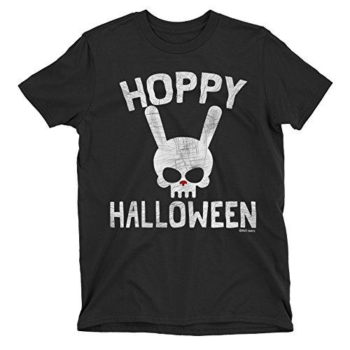 Ladies Hoppy Halloween Evil Dead Bunny Rabbit Skull T-Shirt
