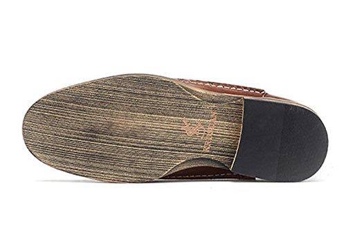 Slip Burgundy On Leather Insun Shoes Men's 5 xw1z1t