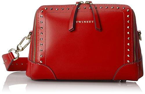 Twin Set As8pma, Borsa a Tracolla Donna, 10x19x25 cm (W x H x L) Rosso (Rubino)