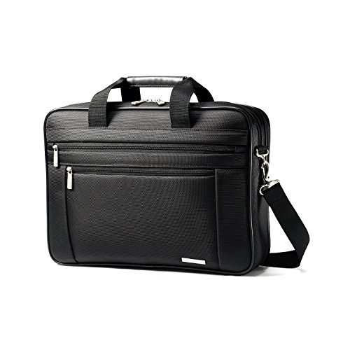 Samsonite Classic Business Perfect Fit Two Gusset Laptop Bag - 15.6'' Black by Samsonite