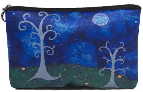 - Cosmetic Bag, Zipper Pouch - Zip-top Closer - Taken From My Original Paintings - Animals (The Couple - Trees)