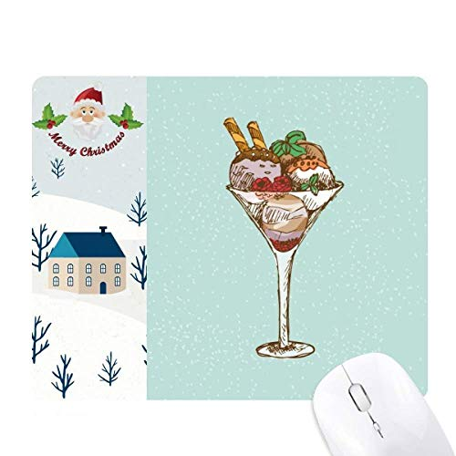 Leaves Flower Goblet Ice Cream Ball Santa Claus House Mouse Pad Gift