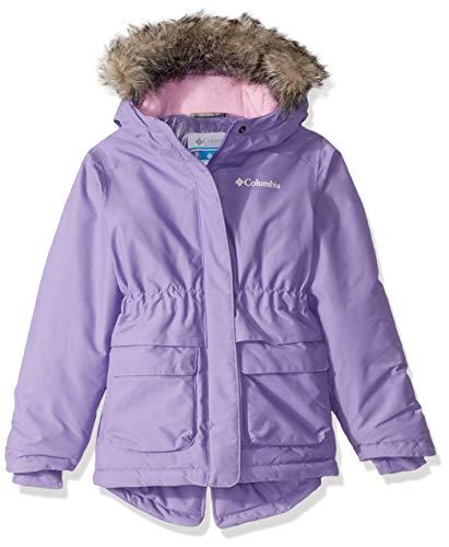 Columbia Girls Nordic Strider Jacket, Paisley Purple Heather, Small (Girl Winter Columbia Coats)