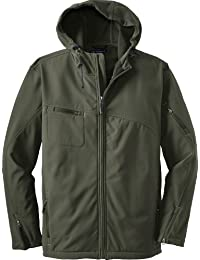 Breathable Textured Waterproof Hooded Soft Shell Jacket. J706, Mineral Green