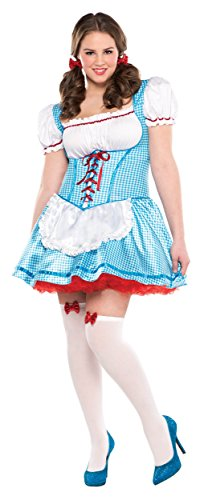 Kansas Cutie Adult Costume - Plus (Adult Plus Size Kansas Girl Costumes)