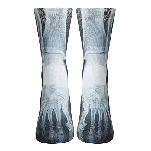 Mens Novelty 3D Printed Funny Crazy Cool X-Ray Socks Casual Athletic Basketball Sports Crew Tube Socks 1 - Funny X-ray