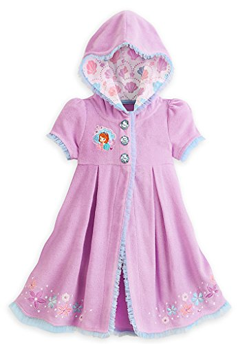 124f5d2fe87b Disney Store Little Girls  Princess Sofia Tulle Ruffles Swim Cover-Up