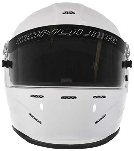 Conquer Snell SA2015 Aerodynamic Vented Full Face Auto Racing Helmet by Conquer (Image #1)