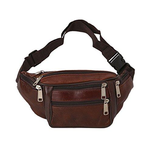 hibyebuying Fanny Waist Bag,New Fashion Sports Waist Fanny Pack Belt Bag Pouch Travel Hip Purse Men Women (Bronze)