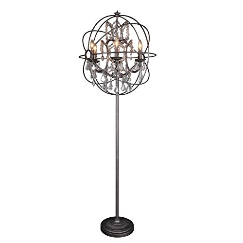Moe's Home Collection RM-1013-20 Adelina Floor Lamp Iron & Glass ()