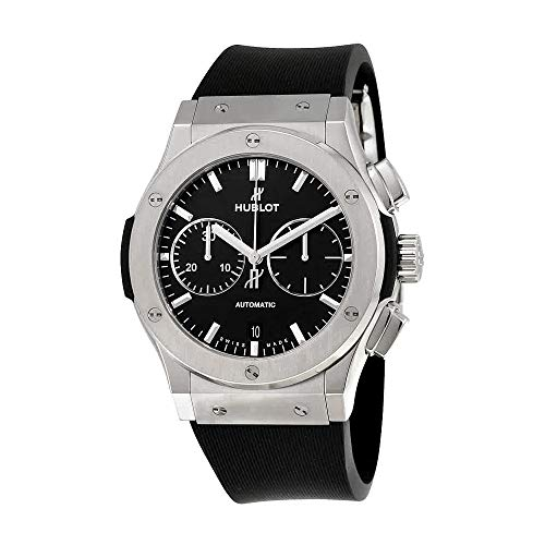 (Hublot Classic Fusion Black Dial Chronograph Mens Automatic Watch 521.NX.1171.RX)