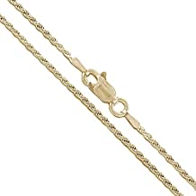 10k Yellow Gold Diamond-Cut Rope Link CHOOSE YOUR WIDTH Chain Necklace