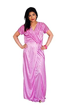 a4cbe5cdf171 18 Plus Women's Honeymoon Wear/ Night Dress/ Bridal Wear, Free Size(Pink,  3): Amazon.in: Clothing & Accessories