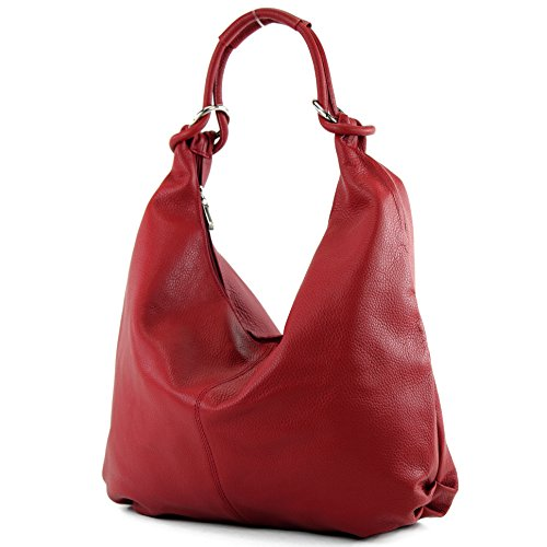 handbag bag Red hobo women's bag 337 bag bag Dark Italian leather pwvtqXx