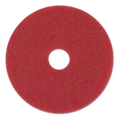 "Boardwalk BWK4013RED Standard Floor Pads, 13"" Diameter, Red (Case of 5)"