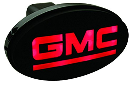 (Pilot Automotive Trailer Hitch Brake Light, 2 Inch Oval Gmc Receiver Hitch Cover with Led Light)