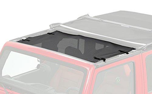 Bestop 52400-11 Mesh Fabric Targa-Style Sun Bikini Top (Jeep Wrangler 2014 Bikini Top)