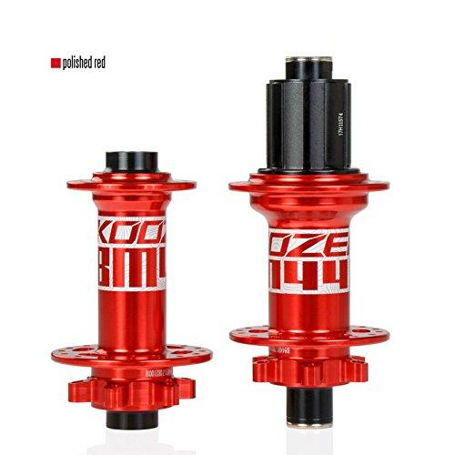 Red Front15x110mm LOLTRA MTB Hub BM440 Koozer Hub for Mountain Bicycle Boost 6 Bolt 32h Hole Disc Bearing Hub Front Hub Rear Rear
